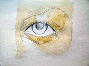 Wie male ich ein Auge in Aquarell - erste Lasur (c) Frank Koebsch (2)