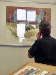 Besucher der Ausstellung von Frank Koebsch im KIZ Schwerin (5)