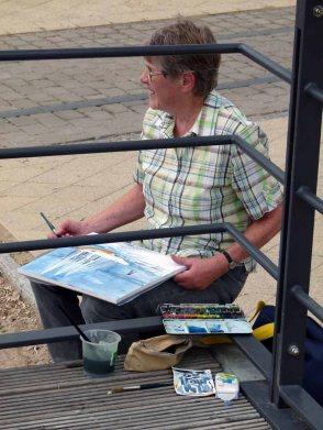 Malreise an die Ostsee - Aquarellieren im Hafen von Rerik (c) Frank Koebsch (8)