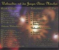 CD - Weihnachten mit den Jungen Chören München Titelliste