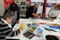Malen für Aquarellfarben, Kreiden und Stiften - Rostock kreativ 2015 (2)