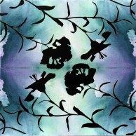 Rapport - Aquarell auf Leinwand - 4 x blau grün (c) FRank Koebsch