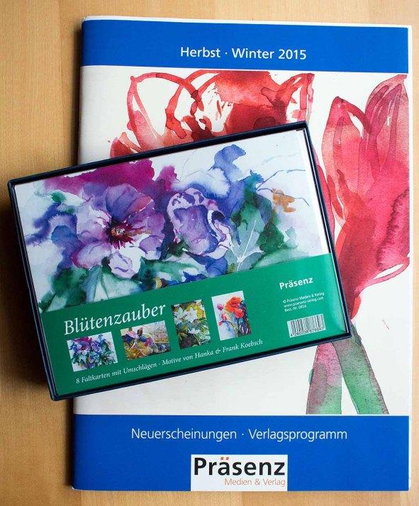 Geschenkbox Blütenzauber mit Aquarellen von Hanka & Frank Koebsch im Herbstprogramm des Präsenz Verlages