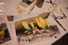 Frühlingsblumen – Aquarellworkshop bei Heinr. Hünicke Rostock (c) Frank Koebsch (2)