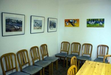 Ausstellung von Kranich Aquarelle in der Naturschutzstation Schwerin (c) Frank Koebsch (1)