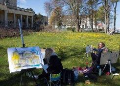 Plein Air Malerei an der Vila Baltic Kühlungsborn (c) FRank Koebsch (8)