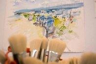Schnappschüsse vom Hängen der Bilder beim PLein Air Festival (c) FRank Koebsch (5)