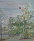 """""""Red Sunset,"""" Watercolor on Paper, $100"""