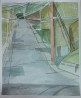 """""""Racine and Jefferson,"""" Watercolor on Paper, $100"""
