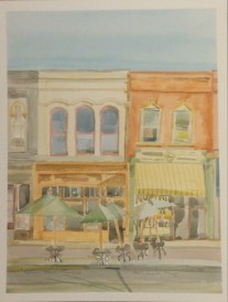 """""""Early Tuesday Evening,"""" 12"""" x 10"""", Watercolor on Paper, $100"""