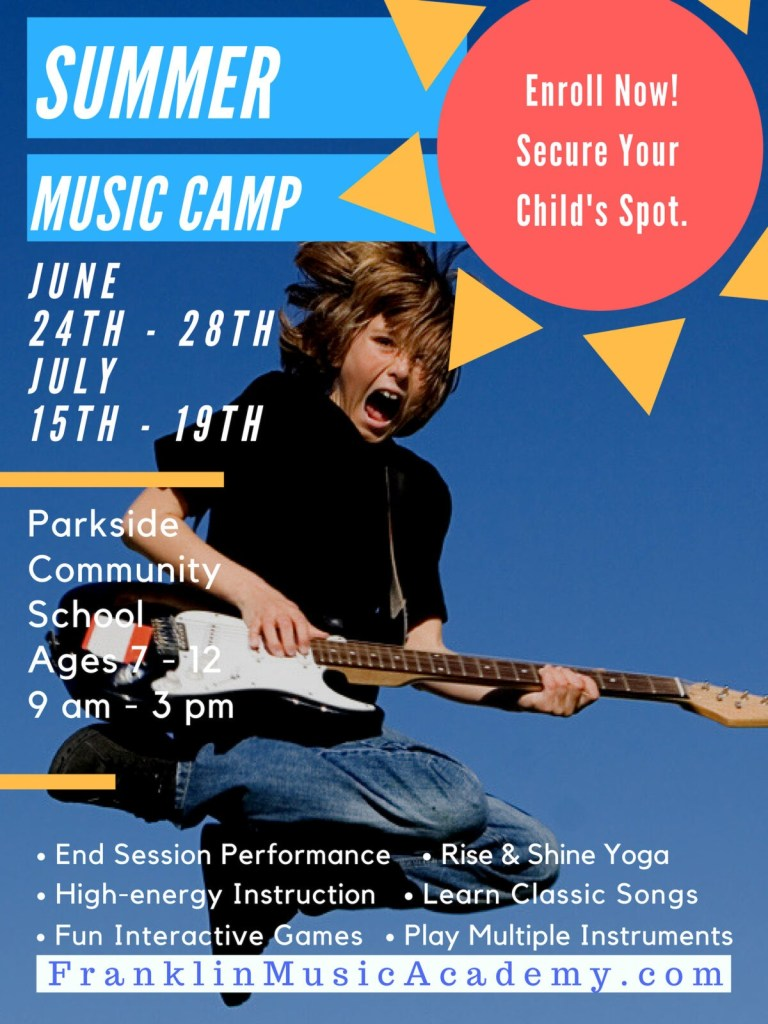 music summer camp advertisement 2019