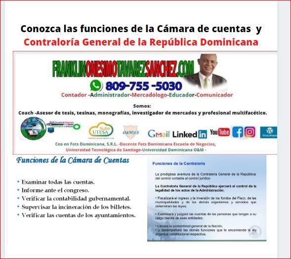 Conozca la Ley sobre la Contraloría General de la Rep. Dominicana