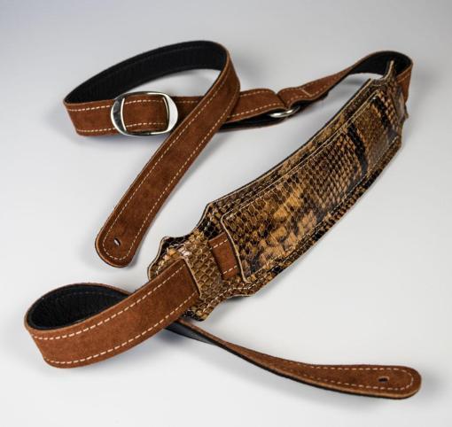 Vintage Snakeskin Ball Glove Guitar Strap