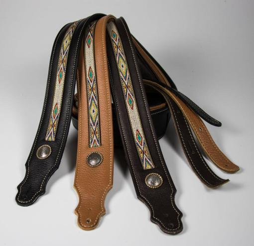 Southwest Padded Leather Guitar Strap