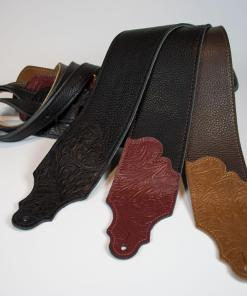 Tooled Glove Leather Guitar Strap