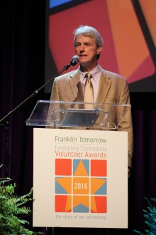 Franklin Tomorrow Board President Tim Murphy kicked off the event.