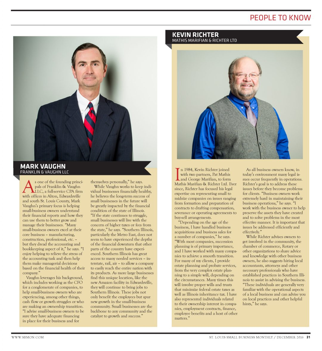 Mark Vaughn featured in St. Louis Small Business Monthly People You Should Know