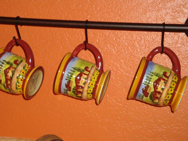 A Taste of Italy. Handcrafted handpainted coffee mugs.