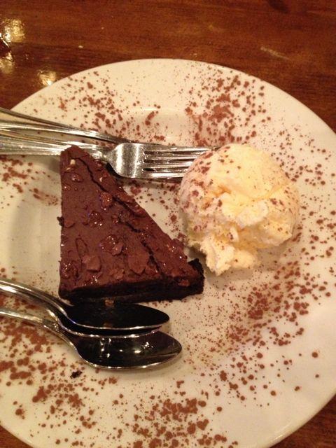 Warm Chocolate Cake. Cold Vanilla Ice Cream. 'Nuff said.