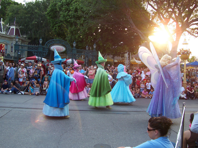 The Three Fairies on parade at Disneyland