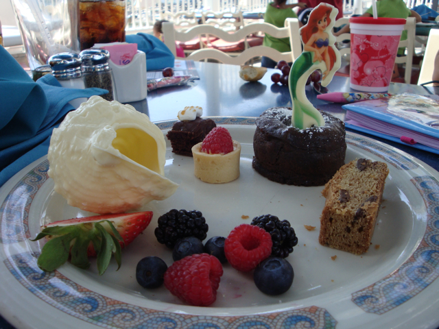 Dessert Platter at Disneyland's Ariel's Grotto