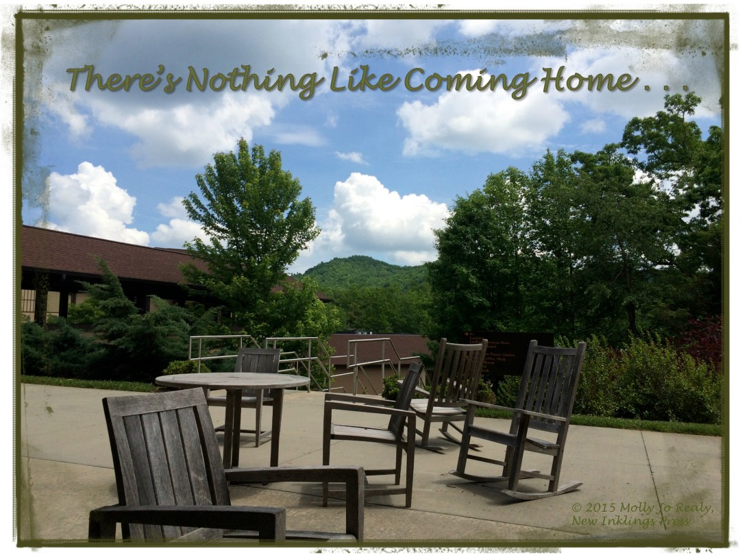 There's Nothing Like Coming Home. . . Rocking Chairs on Outside Patio
