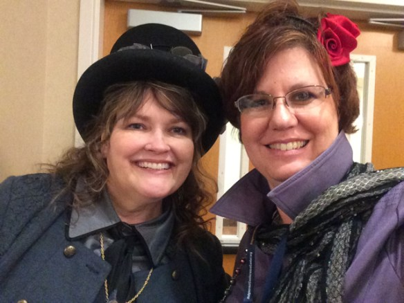 Edie Melson, Social Media Steampunk, and Molly Jo Realy, Woman of Mystery, at BRMCWC