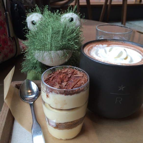 Nippers the Frog at Starbucks Roastery
