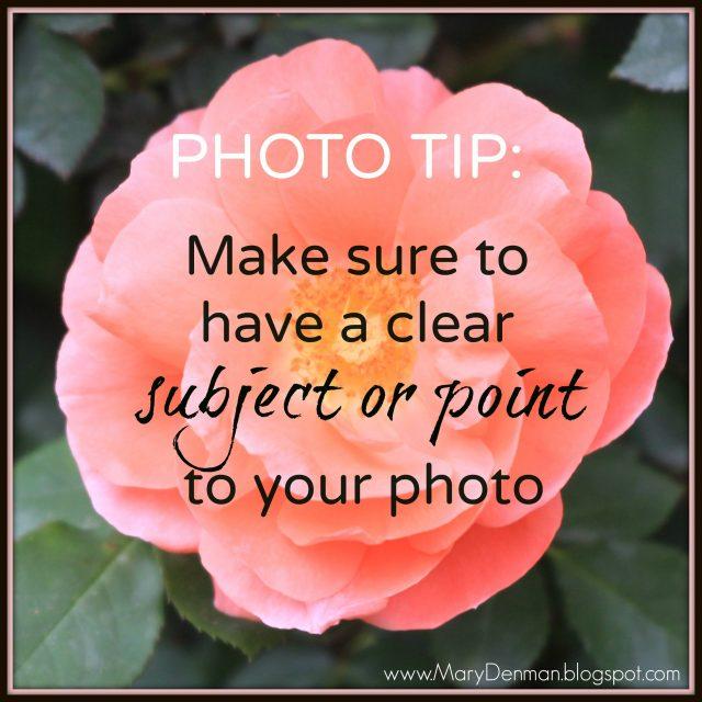 Frankly, My Dear . . . : Mary Denman photo tip