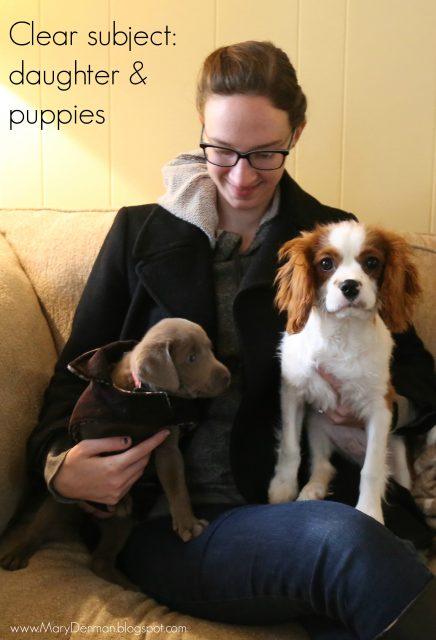 Mary Denman: girl & puppies
