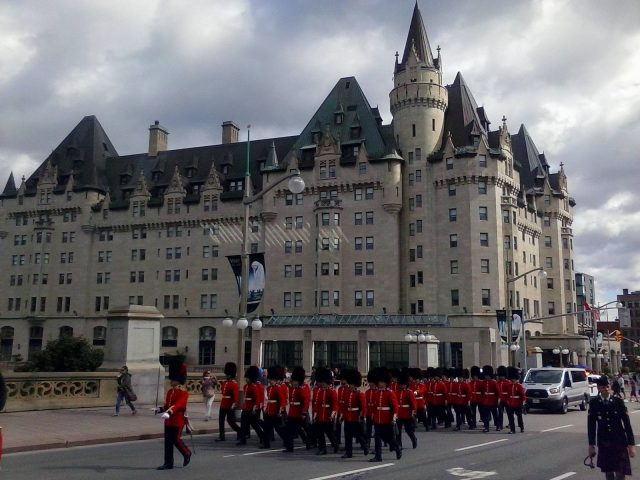 Chateau Laurier and Ceremonial Guards