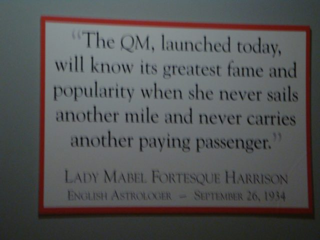 Frankly, My Dear . . . : Queen Mary Prediction