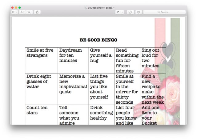 Frankly, My Dear . . . : Be Good Bingo