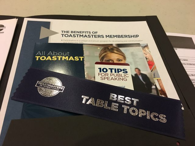 Frankly, My Dear . . . : Toastmasters Best Table Topics