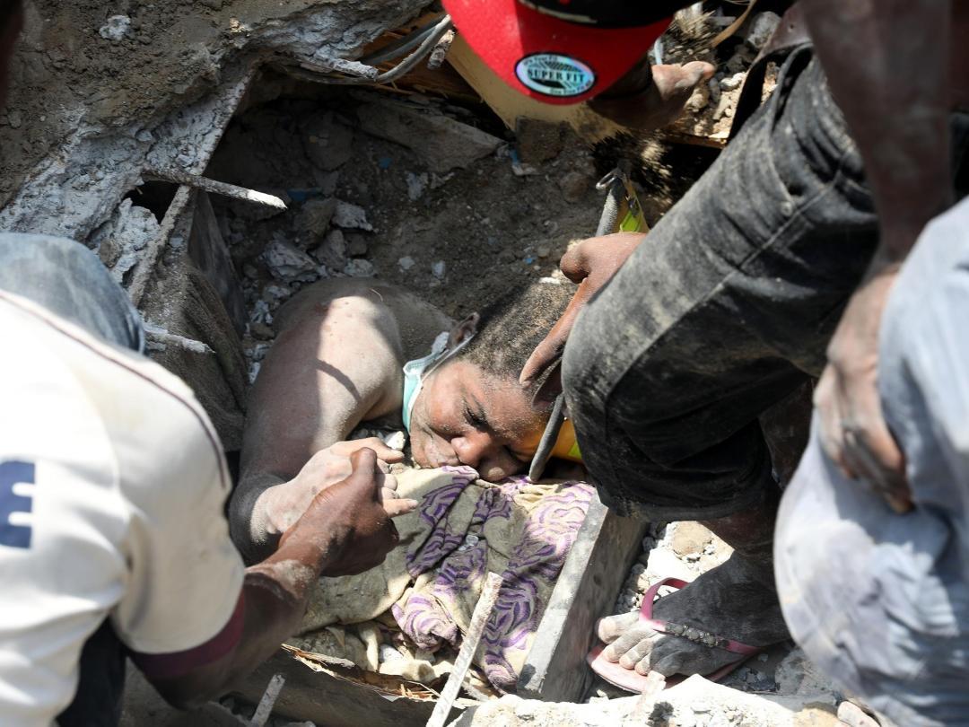 Lagos Island collapsed building