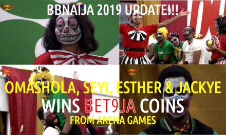 BBNaija 2019 LIVE UPDATES | Housemates Omashola WINS 400 Bet9ja coins from Arena Games | Seyi wins