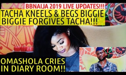TACHA APOLOGIZES TO BIGGIE IN DIARY ROOM | BIGGIE FORGIVES TACHA | FRODD | BBNaija 2019 LIVE UPDATES