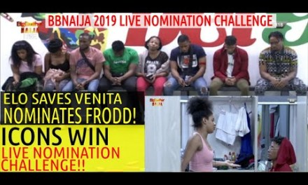 8TH LIVE NOMINATION CHALLENGE: ELO SAVES VENITA, REPLACE FRODD