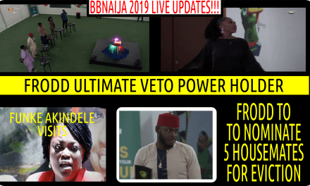 BBNaija 2019 FAKE LIVE EVICTION | FRODD WINS ULTIMATE VETO POWER TO NOMINATE 5 HOUSEMATES FOR EVICTION