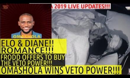 BBNaija 2019 LIVE UPDATES | OMASHOLA WINS VETO POWER | FRODD OFFERS TO BUY VETO POWER | TACHA KHAFI