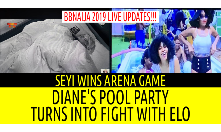BBNaija 2019 LIVE UPDATES | DIANE'S POOL PARTY TURNS INTO FIGHT WITH ELO | SEYI WINS ARENA GAMES