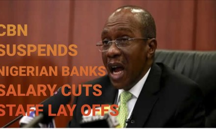 CBN SUSPENDS SALARY CUTS  STAFF LAY OFF