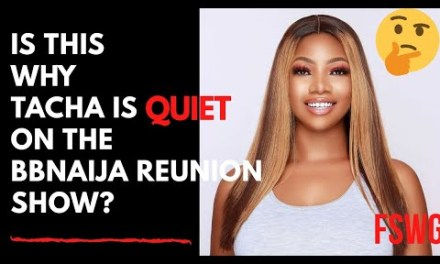 IS THIS WHY TACHA IS QUIET ON THE BBNAIJA REUNION SHOW 2020? | IS EBUKA BIAS?