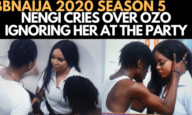 BBNAIJA 2020: THIS IS WHY OZO IGNORED NENGI AT THE LAST LOCKDOWN SATURDAY NIGHT PARTY
