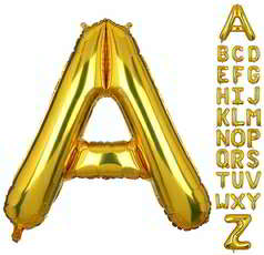 40 Inch Gold Giant Helium Mylar for Party Decorations