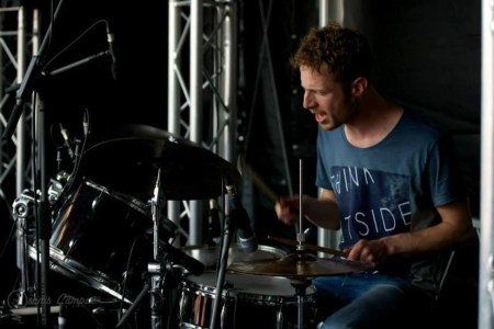 Playing the drums @ a Mama Franko concert
