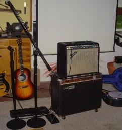 1978 blond maple gibson s1 w audiotechnica wireless transmitter 1978 ovation balladeer 1111 acoustic 1989 gibson rb 250 banjo  [ 1280 x 960 Pixel ]