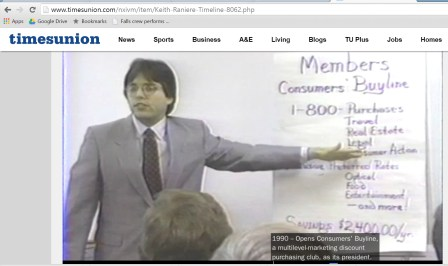 Ask Keith Raniere why he did not mention on his bio that Consumers' Buyline was sued by several Attorneys General in various states and what they sued the company over. Ask him how many other lawsuits there were and how many people were stiffed.