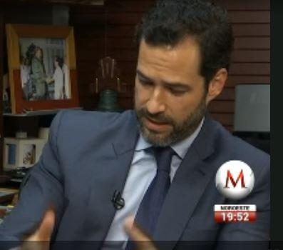 Emiliano Salinas appears on TV.milenio.com to defend ESP