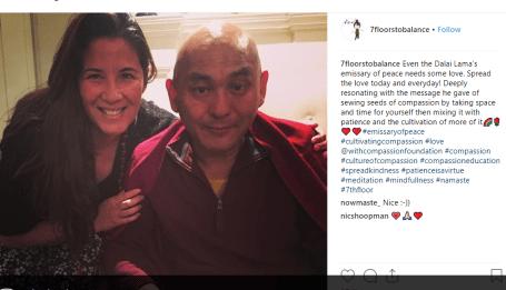 Exclusive Photos: Dalai Lama's Emissary Lama Tenzin on 'Nxivm' Island With Allison Mack Kinky-lama-tenzin-tamara-lee